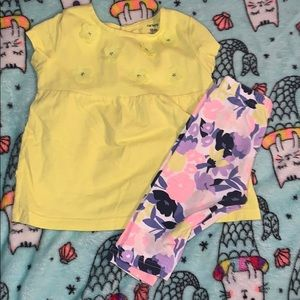 Baby girls 2pc Carter's set 18m